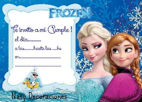 Tarjeta Invitacion Frozen Modelo 1