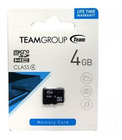 Memoria Micro Sd Team 4gb Clase 4 Gtia 5 Años Celulares Tabl