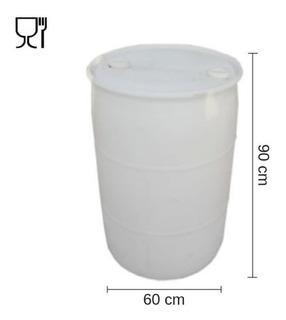 Tankes 200 Lts. - De Plásticos. Con 2 Tapones. Blanco
