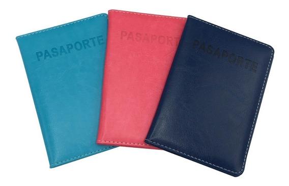 Porta Pasaporte Varios Colores