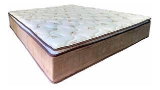 Colchón De Espuma 2 Plazas Pillow Top D65 130kg P/p Delta