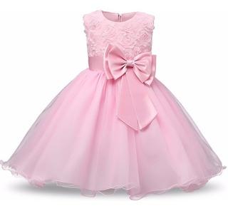 Vestidos Rosados De Fiesta Para Niña - Nuevos