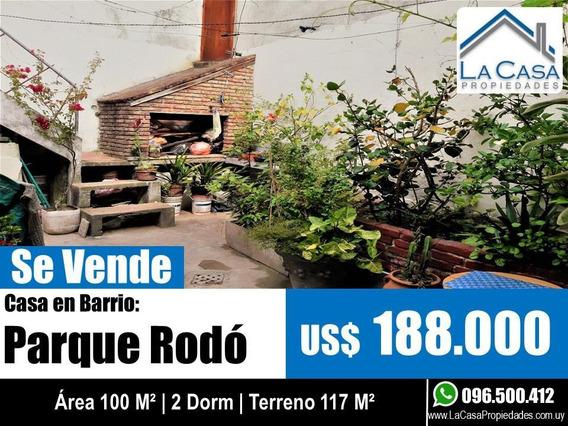 Casa - Parque Rodó Padrón Único, 117 M2 De Terreno, 100 M2 Construidos, 2 Dorm