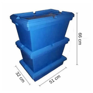 (3) Compostera - Tankes - Con 3 Cajones. Azul.