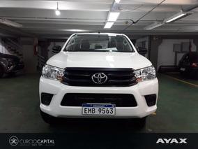 Toyota Hilux Dx 4x4 Nafta 2017 Blanco Excelente Estado