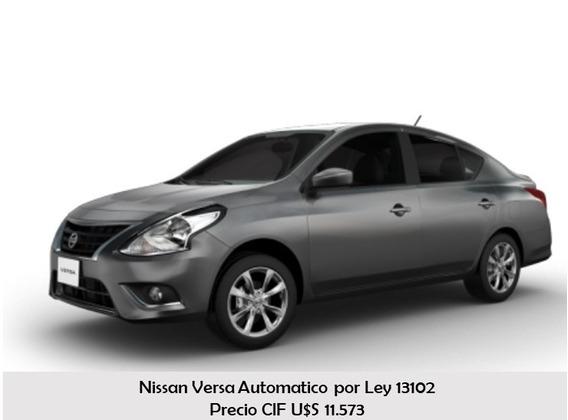 Nissan Versa Aut. Para Personas Con Discapacidad. Ley 13102