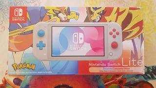 Nintendo Switch Lite, Edición Pokemon Escudo Y Espada.