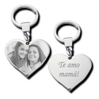 Llavero Grabado Con Foto Y Texto Para El Día De La Madre