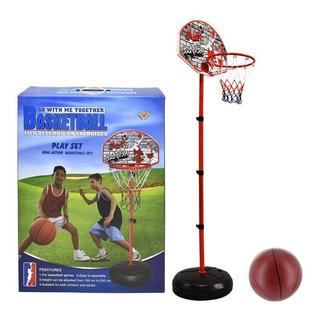 Tablero Basket Ajustable C/pie Y Pelota 66x230cm - El Clon