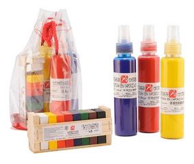 Kit Pintura En Vaporizador+ Crayolones Infantozzi Materiales