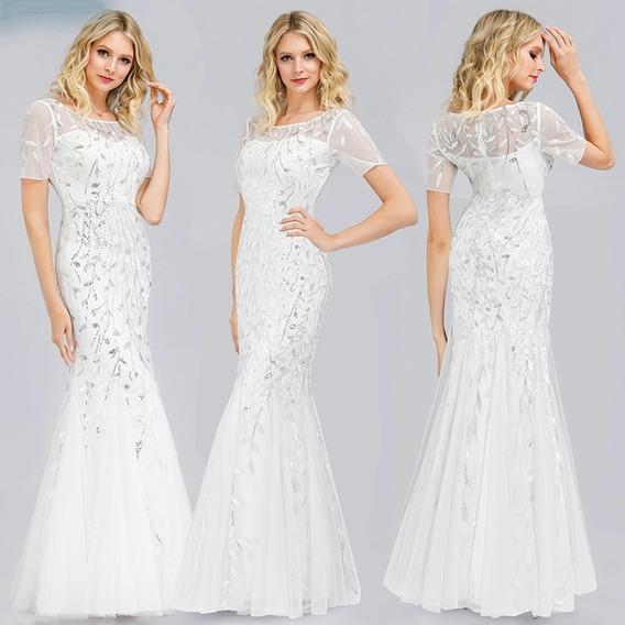 Vestido 15 Blanco Turquesa Vestidos Largos Para Mujer En