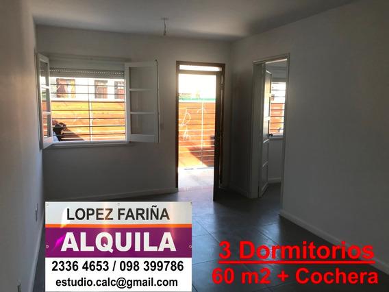 3 Dormitorios: 60 M2 + Cochera / Reciclada - A Estrenar
