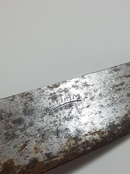 Cuchillo Sellado Antiguo Cabo Madera