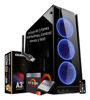 Pc Gamer Amd Ryzen 3 2200g 8gb 1tb Hdd Vega 8 2gb Hdmi Wifi