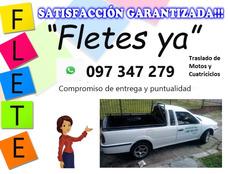 Fletes Motos Traslado Auxilio Mudanzas Cuatriciclo 24hs
