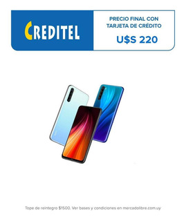 Xiaomi Redmi Note 8 6,3` Lte 64gb/4gb 4000mah 4 Cámaras Amv
