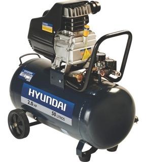 Compresor 50 Lts 2 Hp Hyundai Hyac50d Herracor