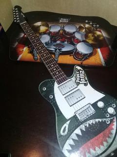Guitarra Electrica Y Bateria. Juego De Niños Paper Jamz