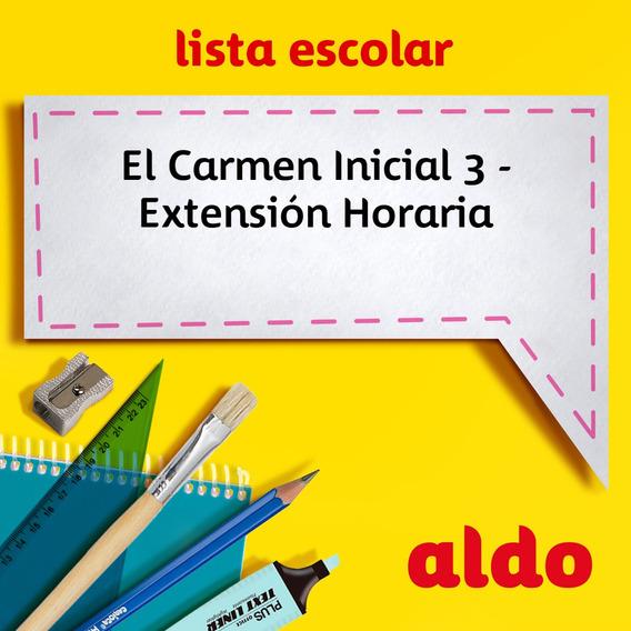 Lista Escolar El Carmen Inicial 3 - Extensión Horaria