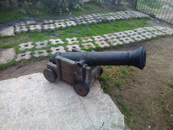 Cañón Naval Xviii Hecho A Mano Ideal Jardín Barbacoa Campo