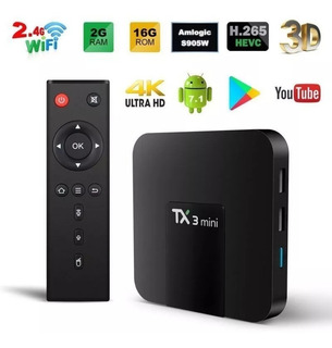 Smart Tv Box Android 7.1 2gb Ram 16gb 4k Full Hd 3d