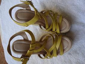 Sandalias Con Plataformas Y Yute Muy Comodas Talle 35