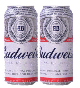 Cerveza Budweiser Lata 473 Cc X2