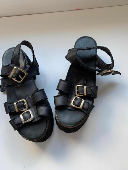 Sandalias Negras Talle 39 De Sofia De Grecia