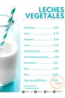 Leche Coco, Almendras, Avellanas Y Alimentos Caseros!