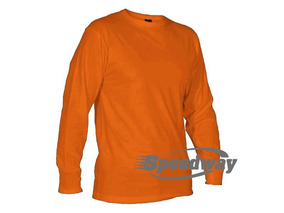 Camiseta Manga Larga Color Naranja Algodón Disershop