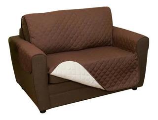 Funda Cubre Protectora Reversible Para Sofa 2 Cuerpos Clicsp