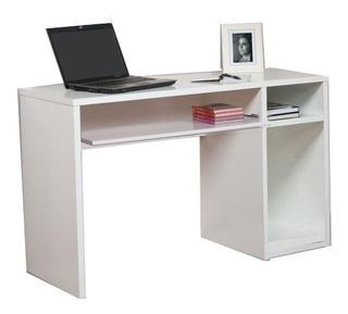 Escritorio Mesa Pc Oficina Blanco Espacio Estantes - Mweb