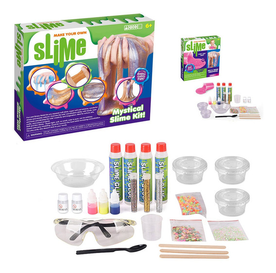 Slime Kit Super Completo Creas Tu Propio Diy Increible St