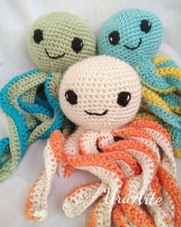 Pulpos Crochet Muñecos Hilo (no Lana) Artesanales Bebe