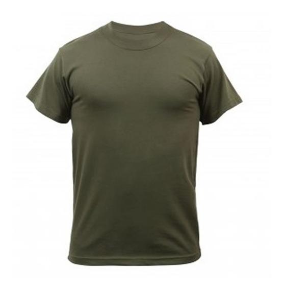 Camiseta Manga Corta Verde Oliva Lisa M, L Outlet