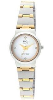 Reloj Q&q Dama. Resistente Al Agua. Q399-401y