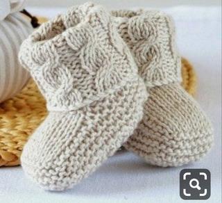 Zapatitos,escarpines,de Bebe En Crochet O Tricot