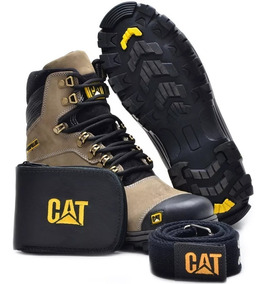 Botas Cat Caterpillar Botas 100% Cuero + Billetera + Cinto 9