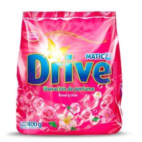 Jabón En Polvo Drive Matic Rosas Y Lilas 400g