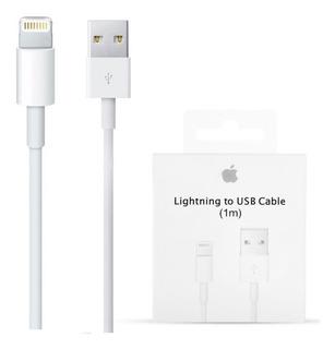 Cable Cargador Datos Original Apple iPhone 5 5s 6 7 Plus 1mt