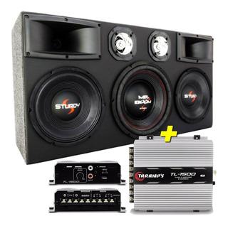 Caja De Audio Auto Sellada 5000w 4 Vias + Potencia Taramps