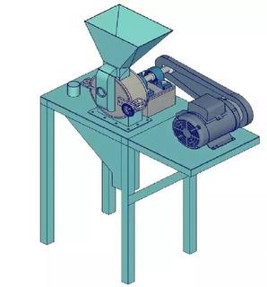 Proyecto Maquina Molino Pulverizador Granos Semillas