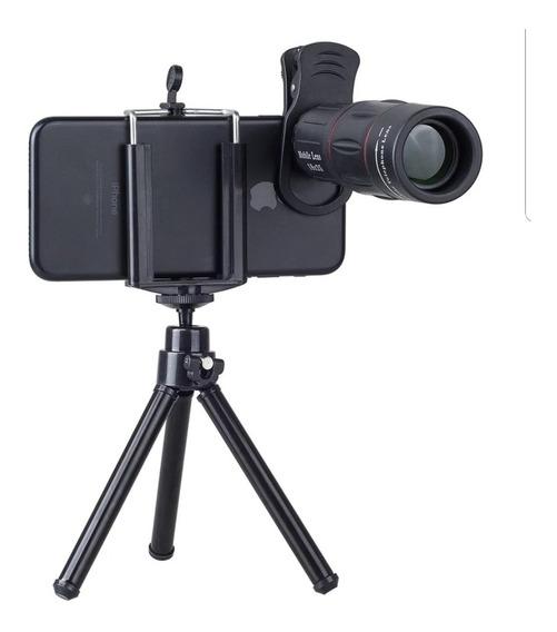 Mira Telescópica Para Celular Zoom Óptico Más Trípode Regalo