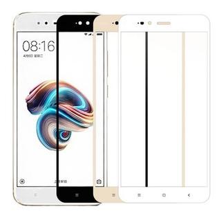 Vidrio Protector Cubre Todo Xiaomi A1 Negro Y Blanco - Otec