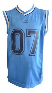 Camiseta Musculosa Topper De Niño Para Basketball Mvd Sport
