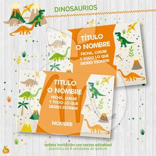 Tarjetas De Cumpleaños Con Dinosaurio En Mercado Libre Uruguay