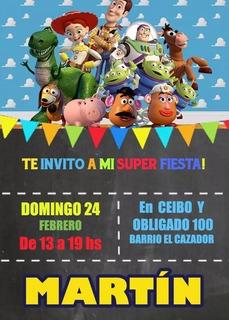 Tarjetas De Invitacion Cumpleaños Toy Story Disfraces Y
