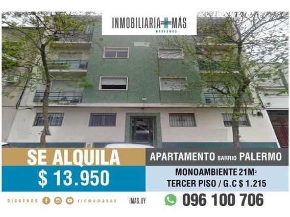 Apartamento Alquiler Palermo Montevideo Inmobiliaria Mas R *