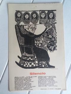 Xilografia Silencio A. Lepera H. Petorossi Carlos Gardel