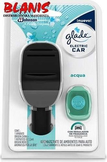 Aromatizador Glade Electric Car Aroma Aqua + Repuesto